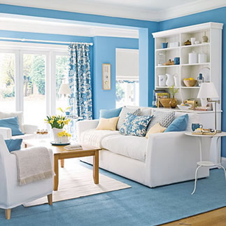 for How to decorate a room with blue walls
