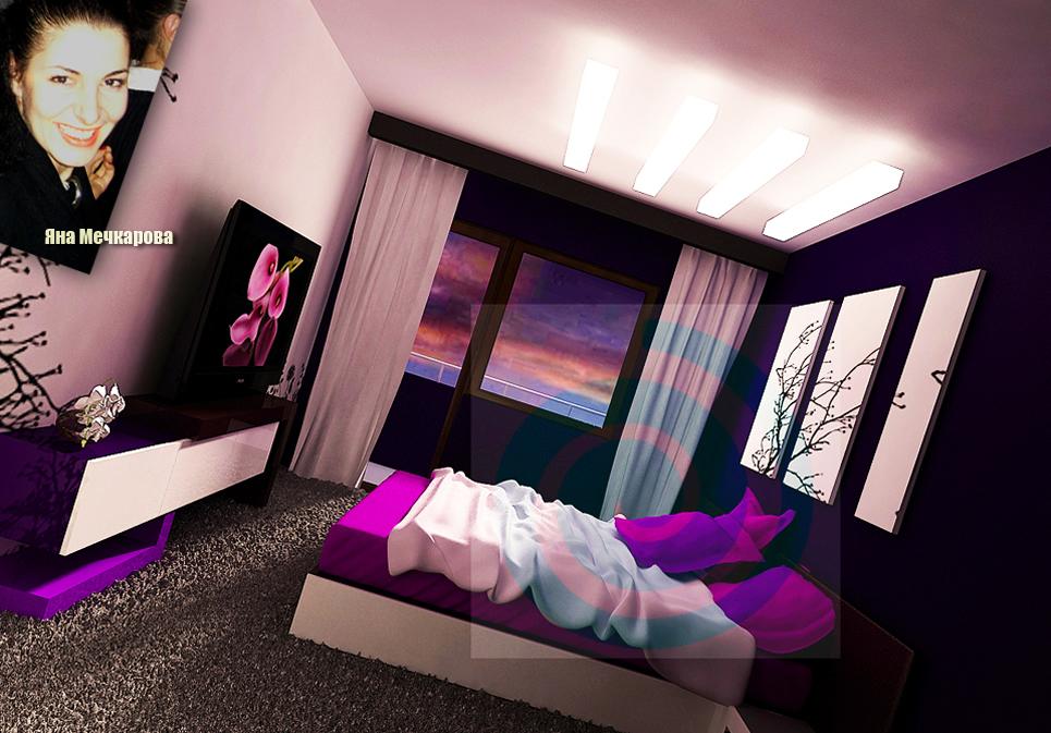 Интериорният проект, който представяме, е на спалня в нов апартамент