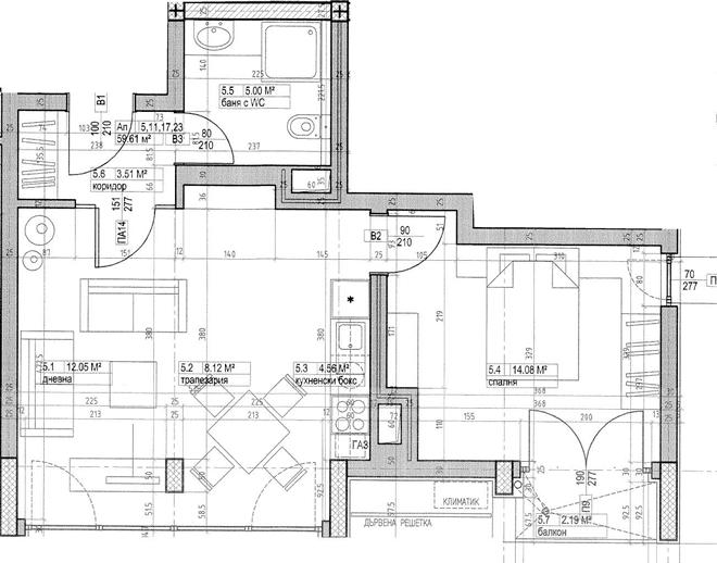 План на апартамента