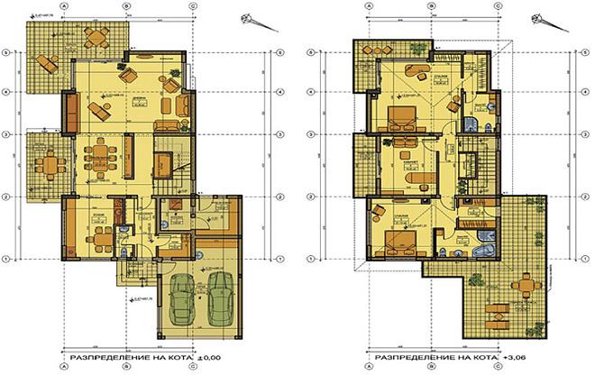 """Проект на двуетажна къща """"ЗЕЛЕНОРАМА'' или """"ЗЕЛЕНА ПАНОРАМА"""""""