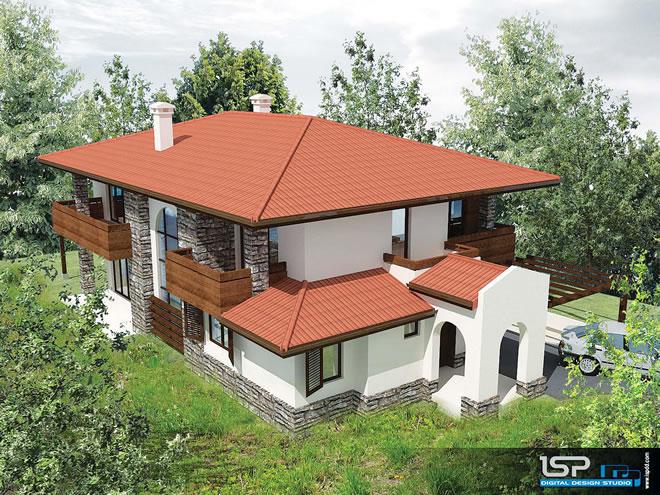 Проект на еднофамилна къща - в.з. Бистрица
