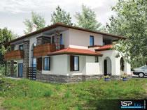 Проект на двуетажна еднофамилна къща в.з. Бистрица, на наклонен терен