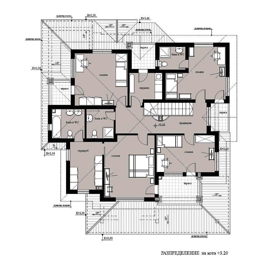 Проект на двуетажна еднофамилна къща в м. Прослав, Пловдив-Запад