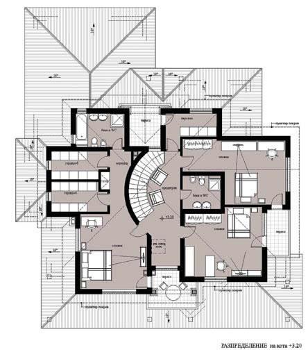 План на втория етаж