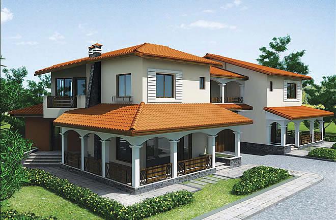 Проект на двуфамилна къща в землището на гр. Пловдив - Запад