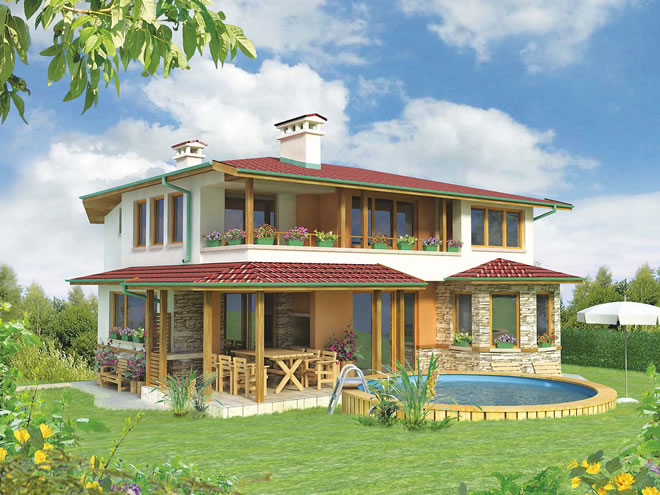 Проект на къща в полите на планината
