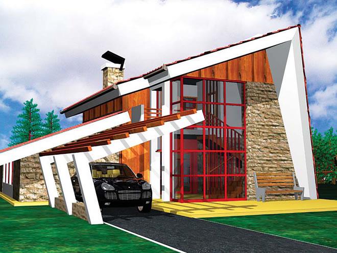 """Проект на къща в местността """"КОЗИ ВИР"""", гр.Троян"""