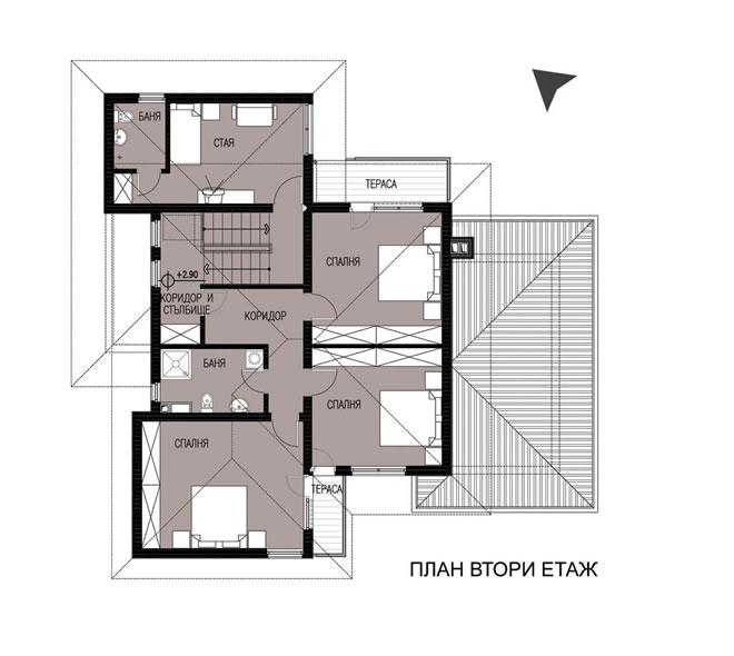 Проект на двуетажна еднофамилна къща в м. Горубляне, район Младост, гр. София