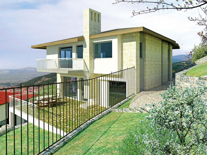 Проект на двуетажна къща в с. Кладница, общ. Перник