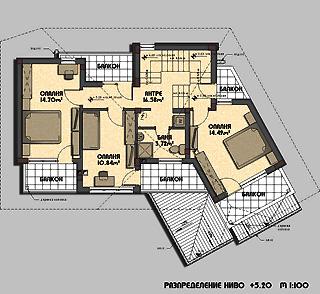 Зазпределение на втори етаж