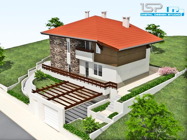 Проект на еднофамилна къща в с. Медово, общ. Поморие