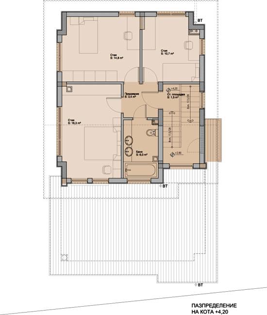 """Проект на вилна сграда в м. """"Бяла нива"""", с. Кокаляне"""