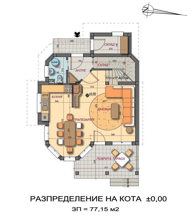 "Проект на вилна сграда ""Полски мак"" край гр. Бургас"