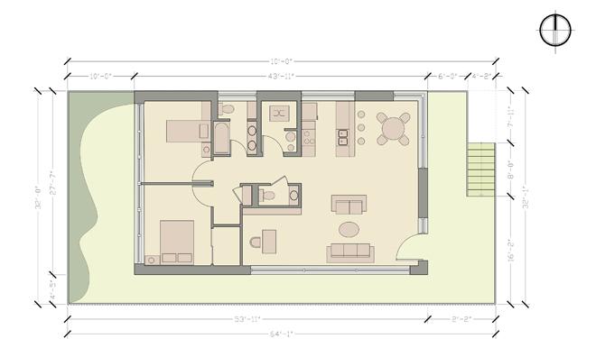 Гъвкава Къща в Ню Орлеанс. Конкурсен проект на пасивна къща