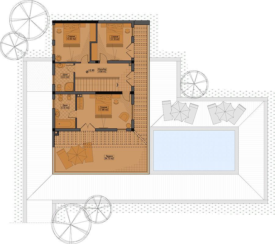 План на вторият етаж