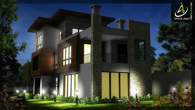 """Проект на 3-етажна еднофамилна къща за сезонно ползване, разположена в СО """"Прибой"""", гр. Варна."""