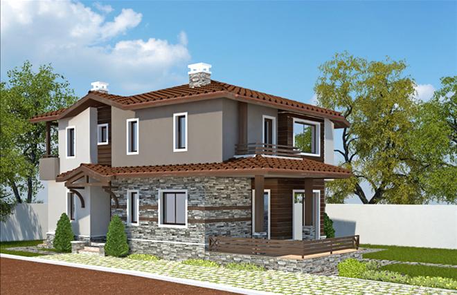 Проект на двуетажна къща