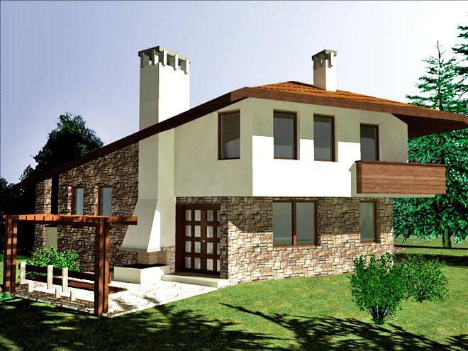 Проектна еднофамилна къща в с. Радювене