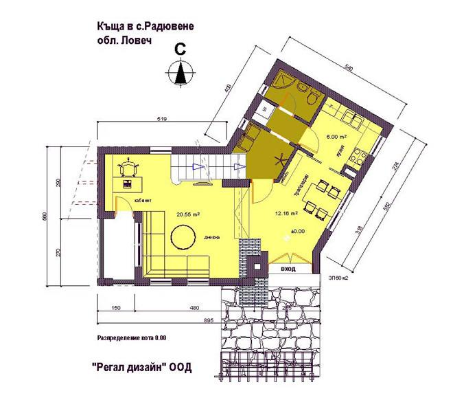 Разпределение на първият етаж