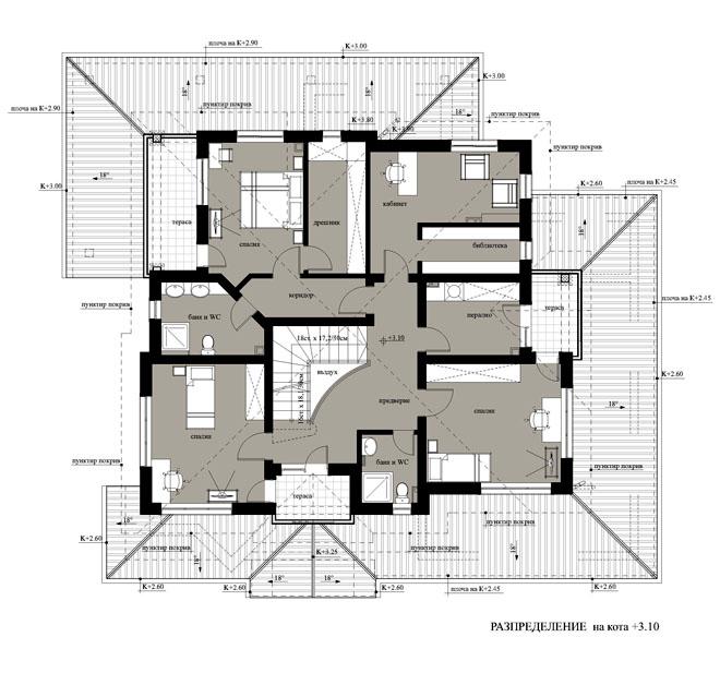 Проект на вилна сграда в с. Дебръщица, община Пазарджик