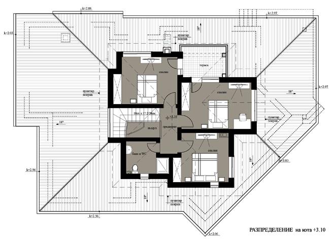 Проект на еднофамилна двуетажна къща в с. Дълбоки, община Стара Загора