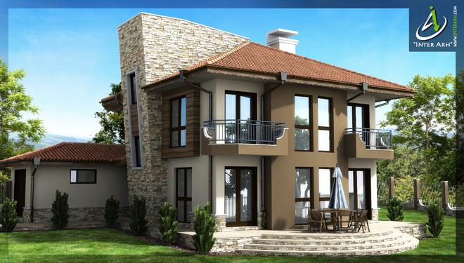 Проект на еднофамилна къща в с. Осеново
