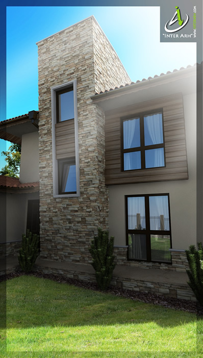 Проект на еднофамилна къща - фасада
