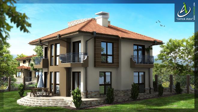 Проект на еднофамилна къща в с. Осеново, общ.Аксаково