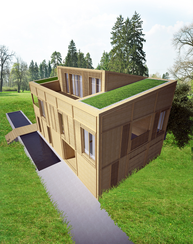 Проект на еднофамилна къща с дървена конструкция