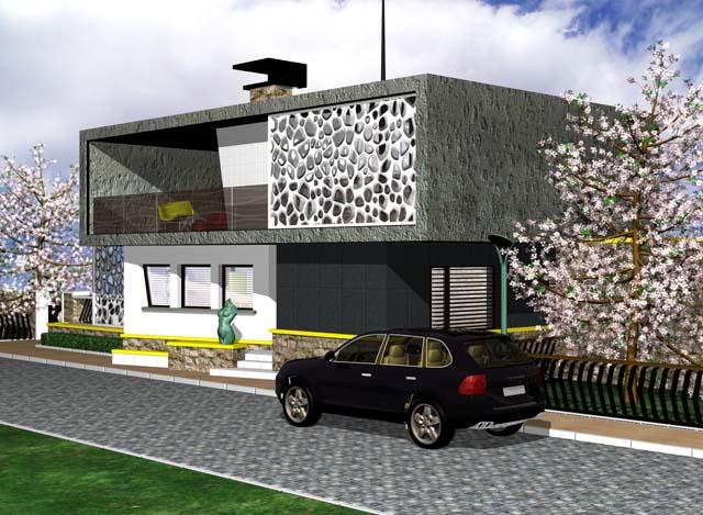 Представяме ви един проект за Жилищна сграда с ограда и барбекю