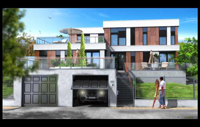 Визуализация на фасадата