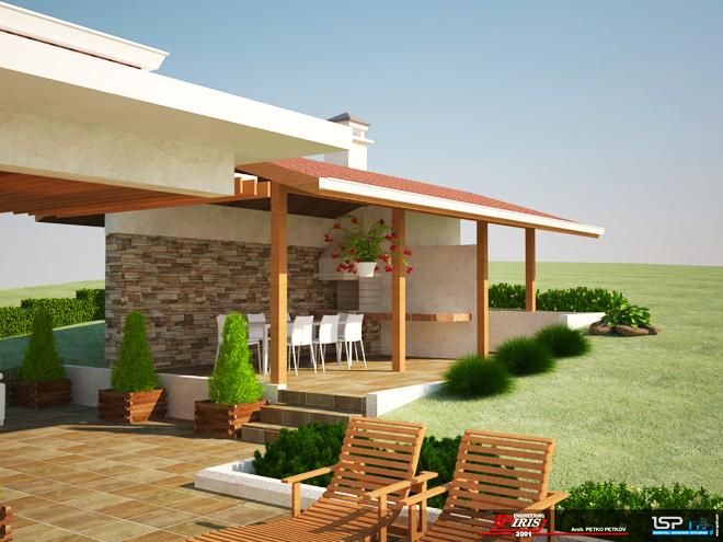 Проект на еднофамилна двуетажна къща в с. Дивотино, общ. Перник