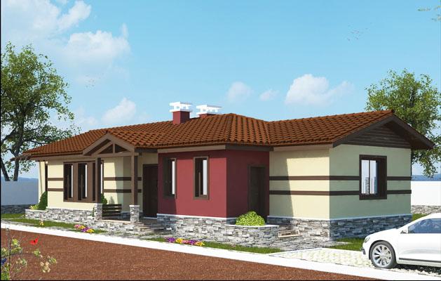Проект на едноетажна къща в с. Строево, общ. Марица, обл. Пловдив