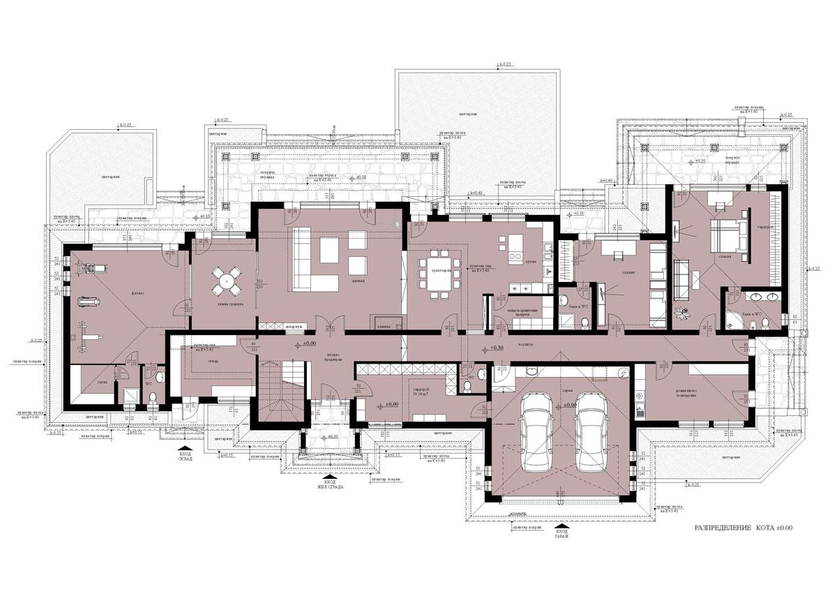 Проект-реализация на еднофамилна къща с басейн ибарбекюв гр. Пловдив