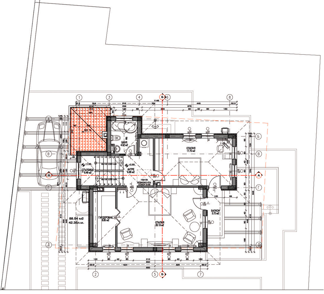 Проект на еднофамилна къща в м. с. Пролеша гр. Божурище