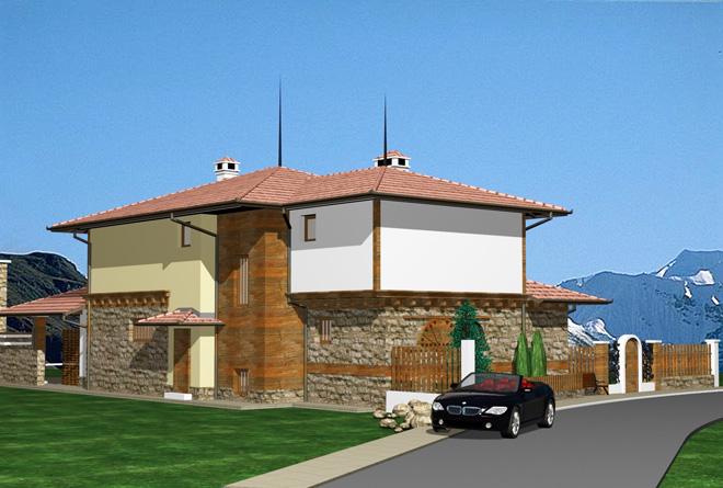 Проект на къща в кв. Острец на гр. Априлци