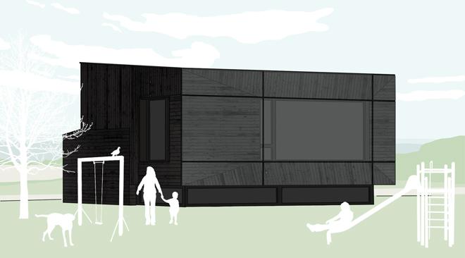 Проектът - победител в конкурса за пасивна къща в с. Лозен Проекти на къщи 2012 г.
