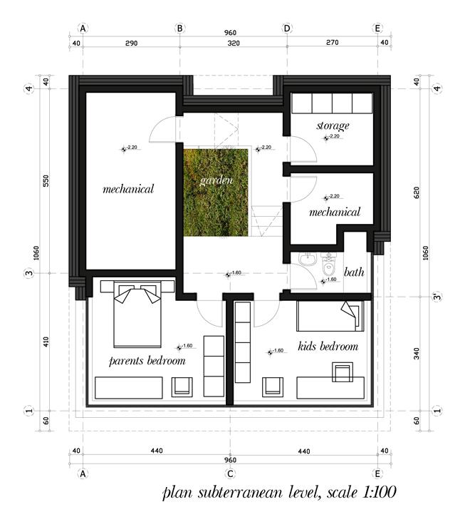 Проектът - победител в конкурса за пасивна къща в с. Лозен