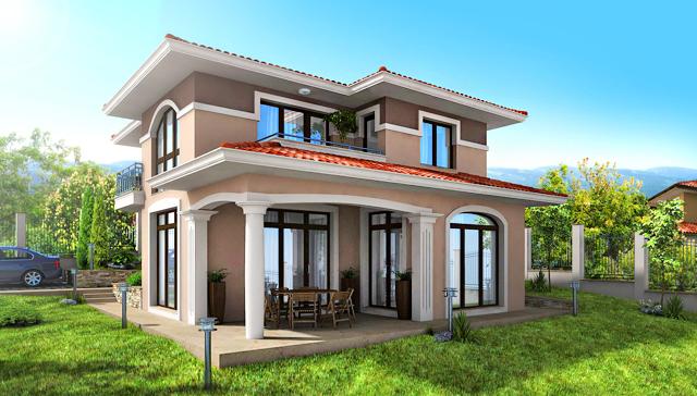 Проект на еднофамилна къща в с. Тополи