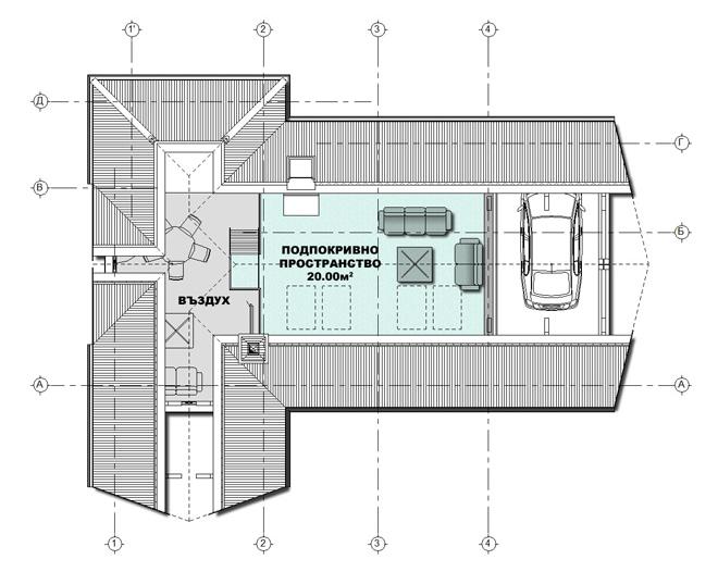 План на подпокривното пространство