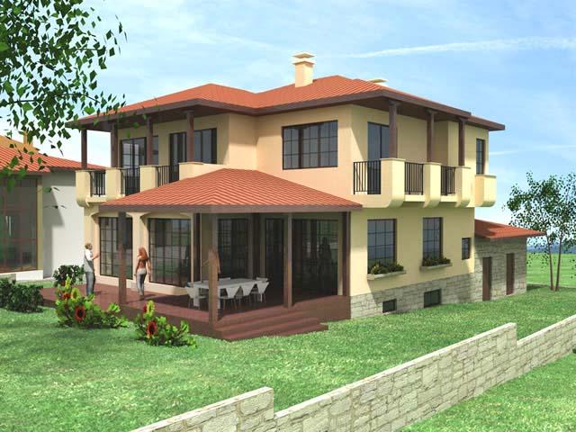 Проект на еднофамилна къща в м. Острова, с. Белащица