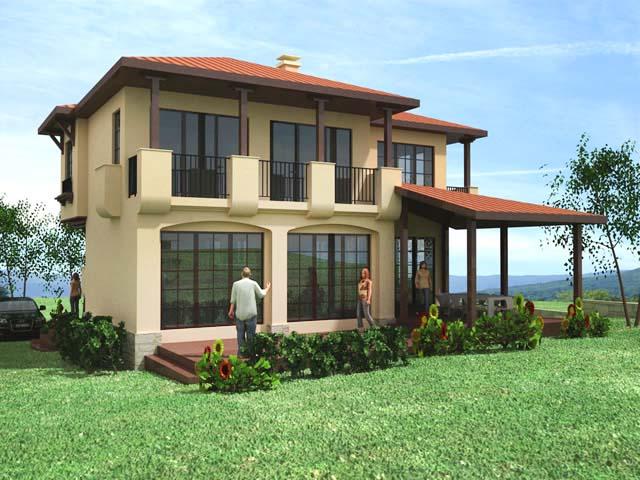 Проект на еднофамилна къща в м. Острова, с.Белащица