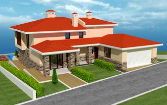 Проект на еднофамилна къща в с. Лъка, общ. Поморие