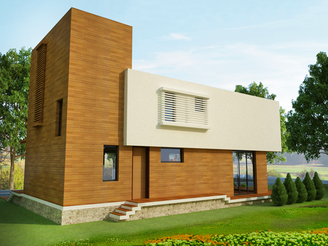 Проект на двуетажна еднофамилна къща в с. Бистрица