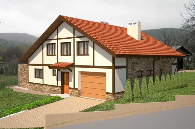 Проект на еднофамилна къща в с. Горна Диканя, общ. Радомир