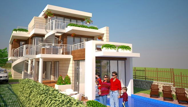 Проект на еднофамилна къща в с. Черноморец