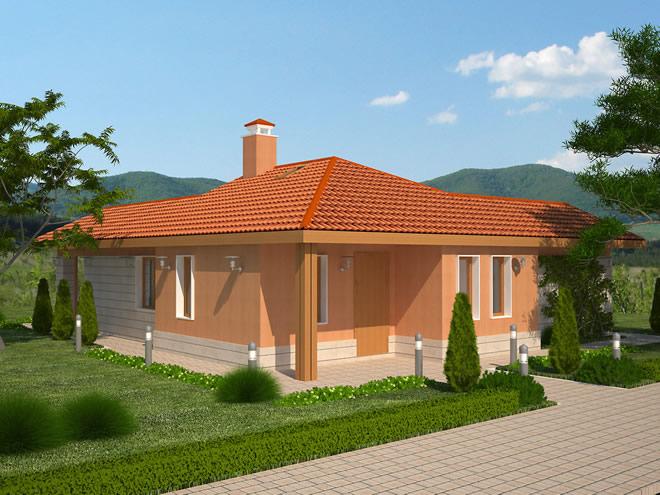 Проект на едноетажна еднофамилна къща - готов проект