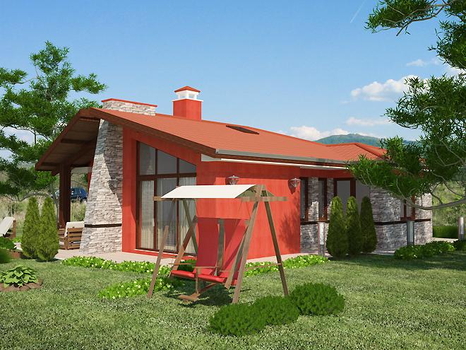 Проект на еднофамилна едноетажна къща - готов проект