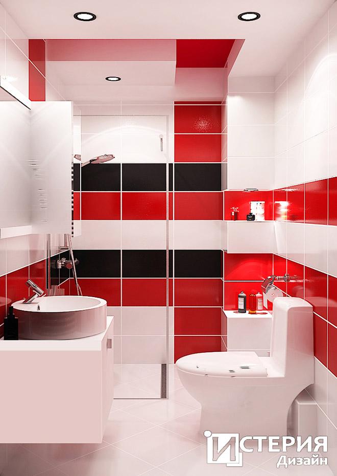 Осветлението в банята е решено свградени лунички