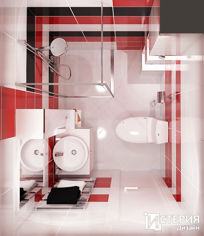 Поглед отгоре в банята